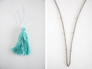 Anthropologie Inspired tassel neckalce
